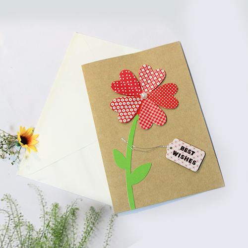 Thiệp chúc mừng handmade giấy kraft