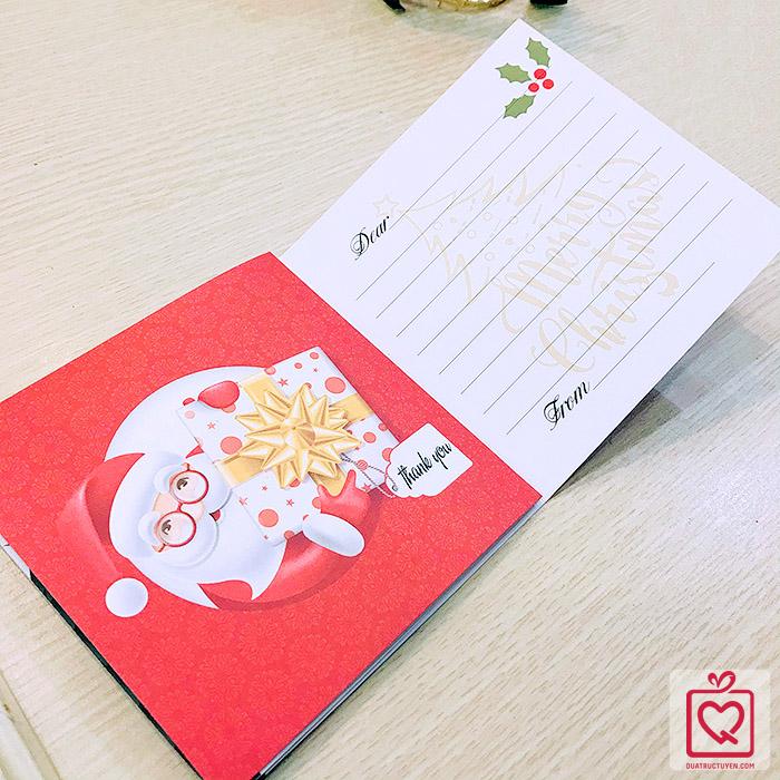 Thiệp giáng sinh đỏ