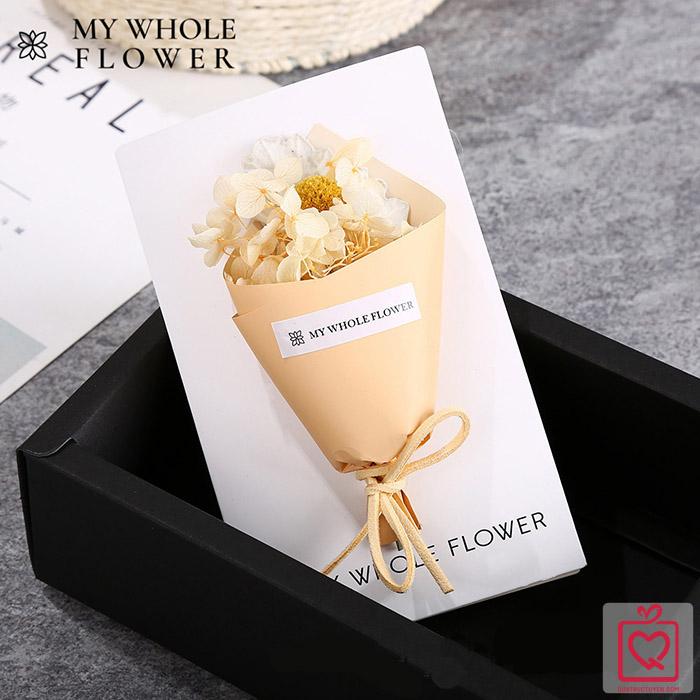 Thiệp hoa khô