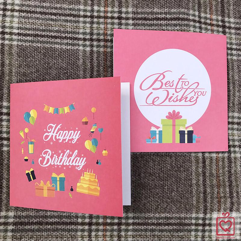 thiệp vuông gấp sinh nhật