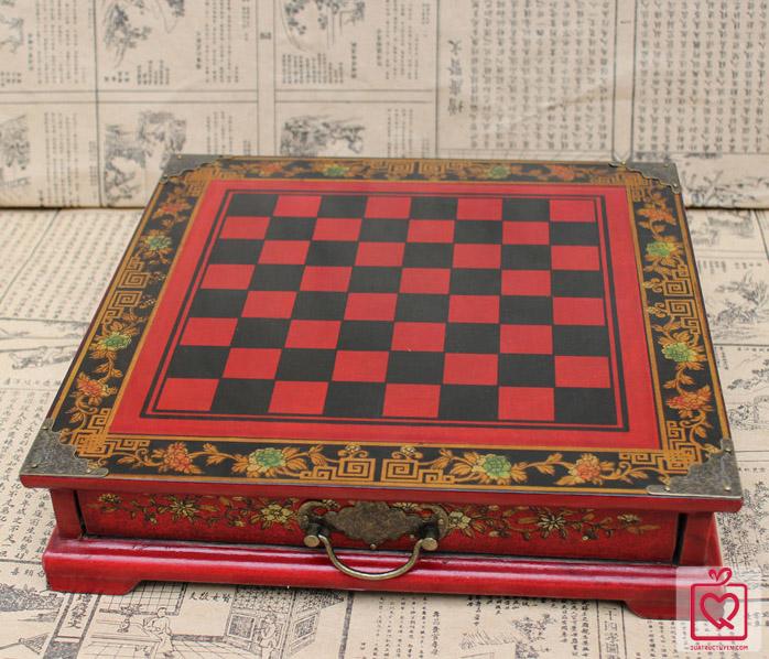 bàn cờ vua chiến binh đất nung