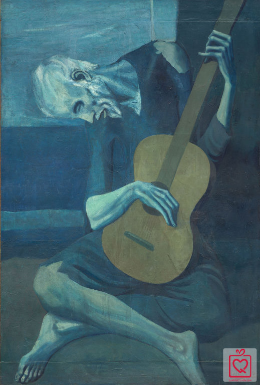 Pablo Picasso, The Old Guitarist, 1903, Art Institute of Chicago