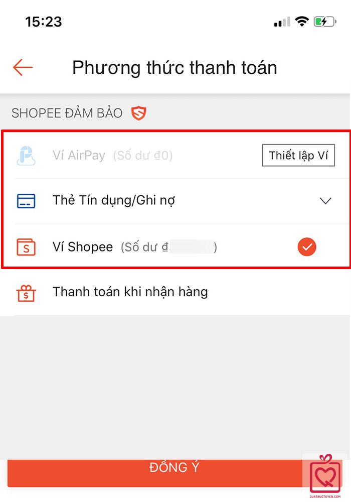 cách mua quà trên shopee