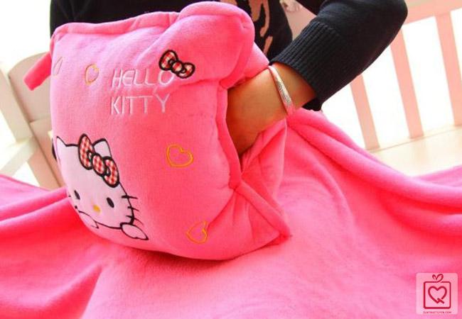 Bộ chăn gối 3 trong 1 hello kitty