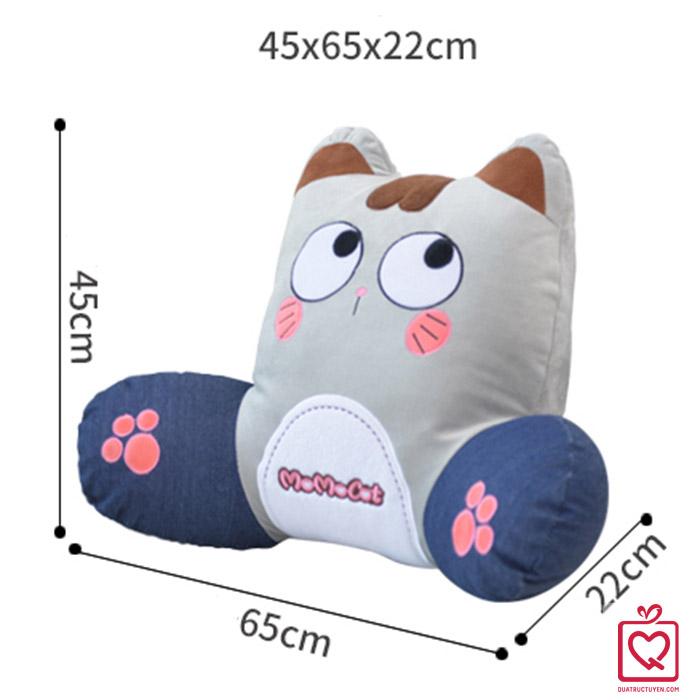 Bộ chăn gối tựa lưng 2 trong 1 mèo Momo