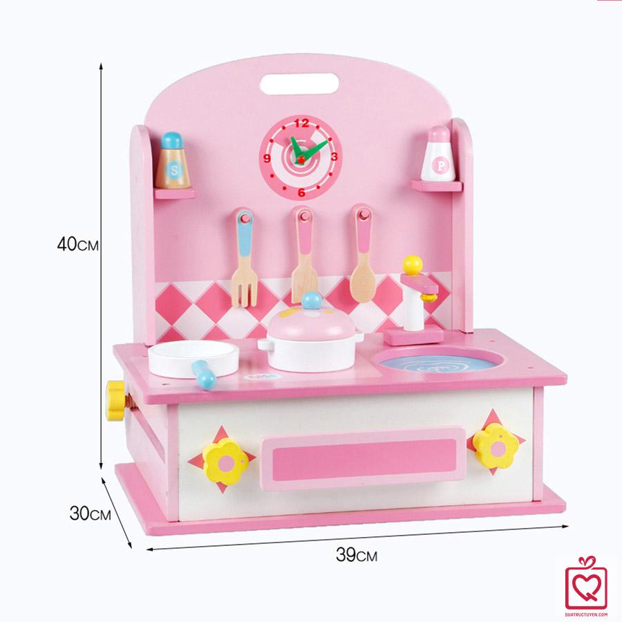 Bộ đồ chơi 2 trong 1 nhà bếp và bàn trang điểm cho bé