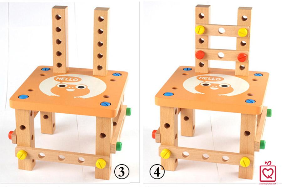 Bộ đồ chơi lắp ghép mô hình ghế cho bé