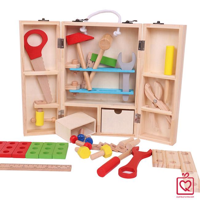 Bộ đồ chơi dụng cụ sửa chữa bằng gỗ