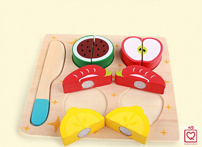 Đồ chơi gỗ cắt ghép thực phẩm