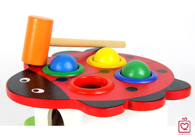 Bộ đồ chơi gỗ đập bóng
