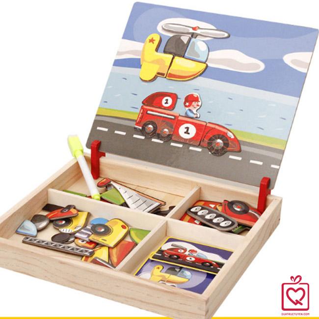 đồ chơi gỗ ghép hình phương tiện giao thông