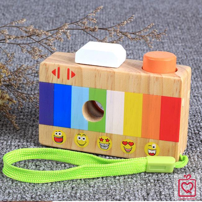 Đồ chơi gỗ máy ảnh cầm tay