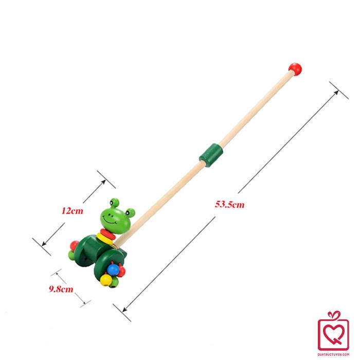 Đồ chơi gỗ thanh đẩy chú ếch con cho bé tập đi