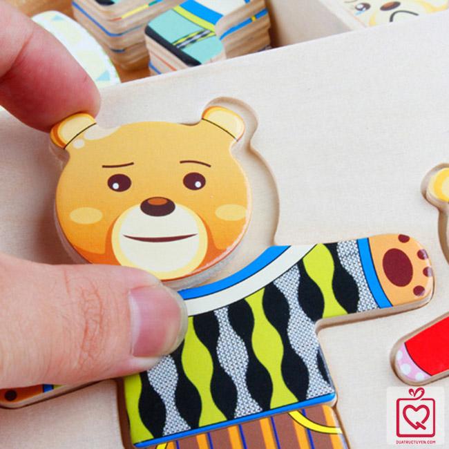 Đồ chơi thay quần áo cho gấu