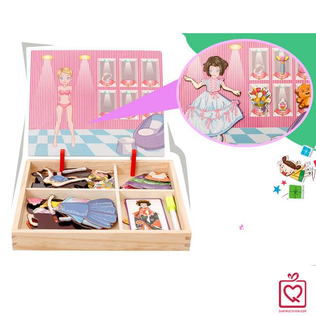 Đồ chơi gỗ ghép hình công chúa dự tiệc