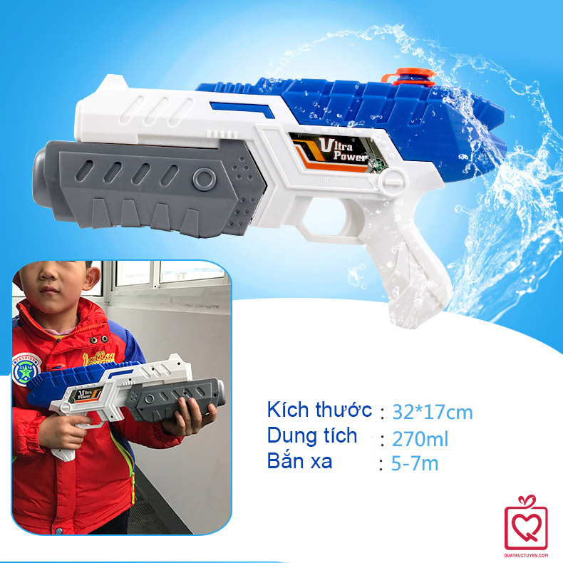 Súng phun nước Ultra Power ống ngắn xanh trắng 30cm