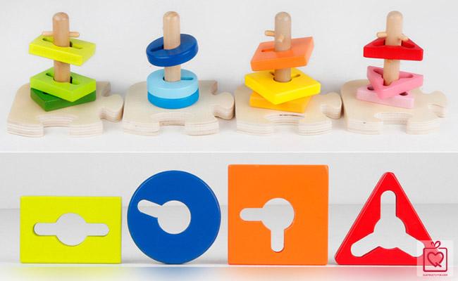 đồ chơi gỗ thả hình ELC