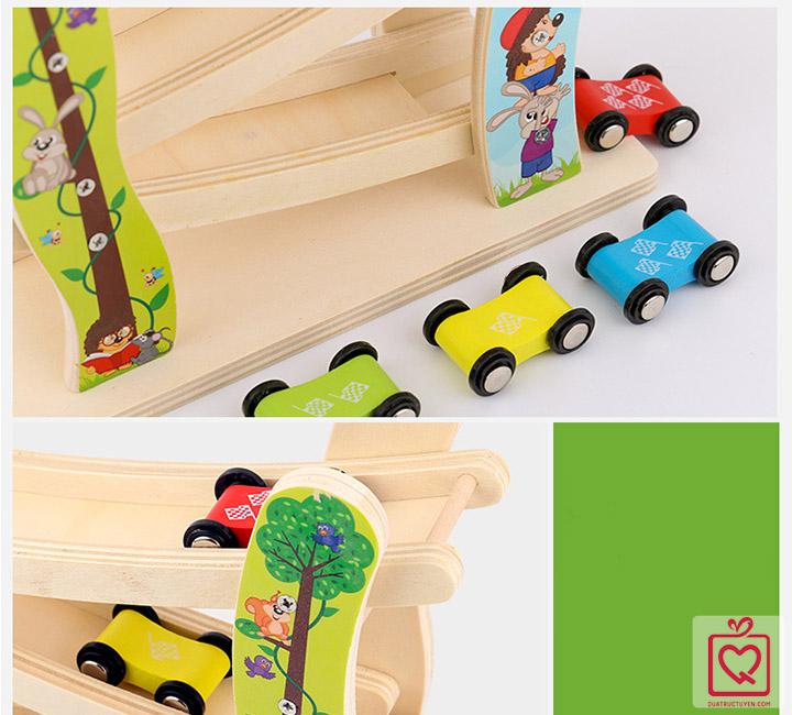 Đồ chơi gỗ xe cầu trượt