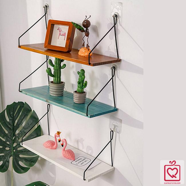 Giá gỗ dây treo tường minimalism