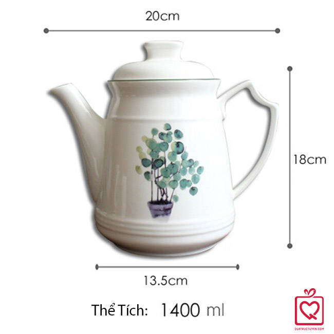 Bộ bình 6 cốc gốm sứ cao cấp Tropical Zone