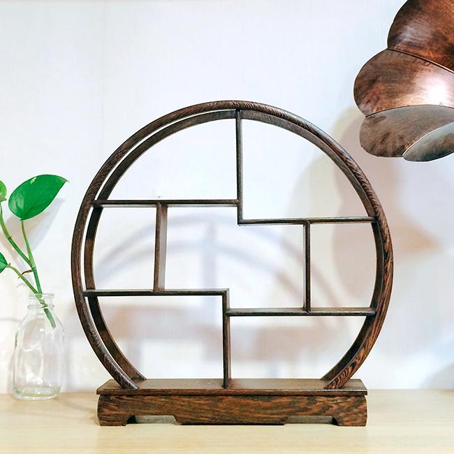 Kệ gỗ trưng bày hình tròn đa tầng
