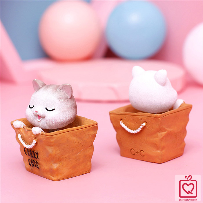 Mô hình mèo con lắc lư Crazy Cat
