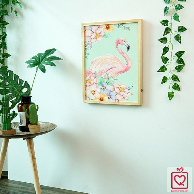 Tranh đèn Led Flamingo