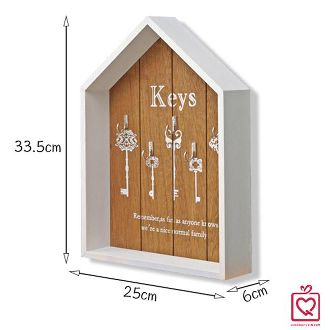 Tủ treo chìa khóa hình ngôi nhà không cánh