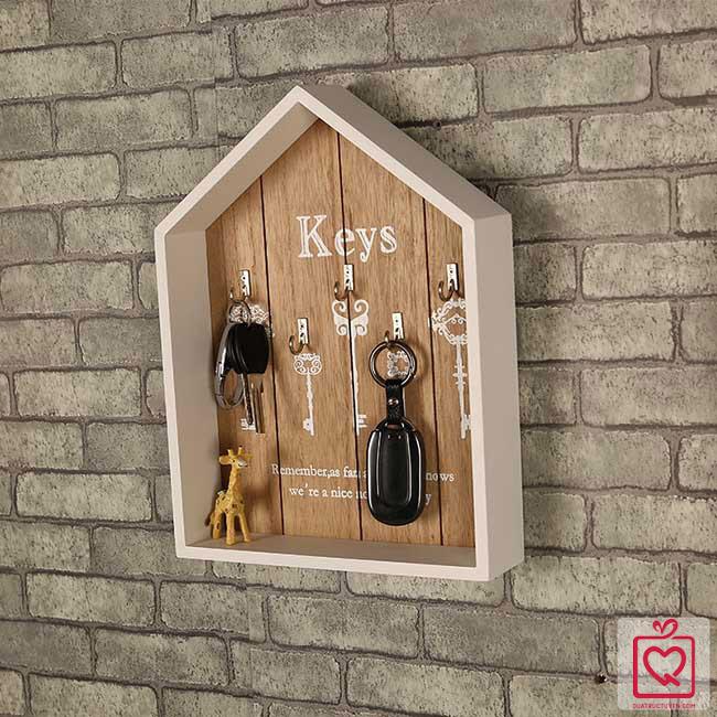 Tủ treo chìa khóa vintage hình ngôi nhà