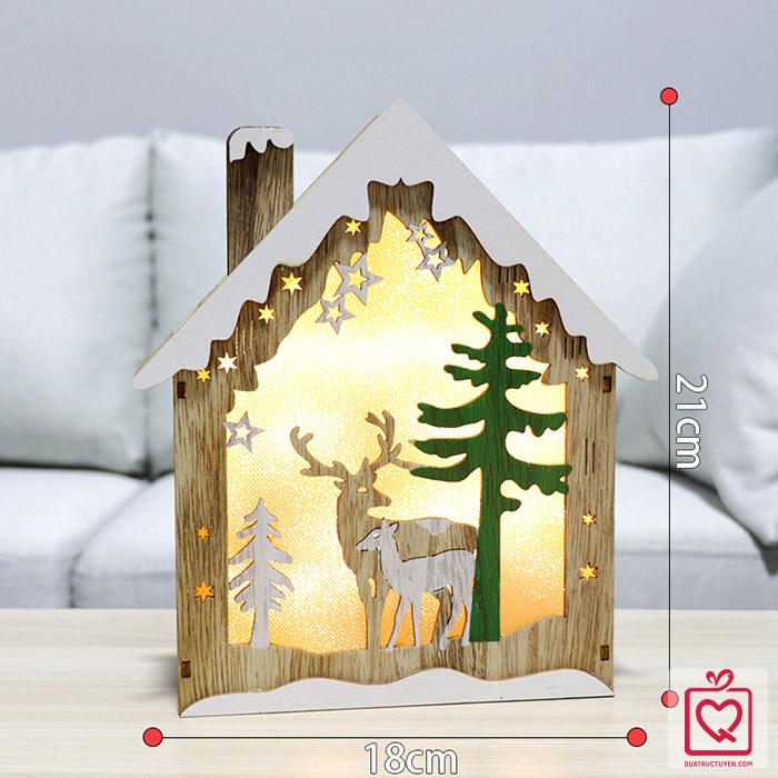 Hộp đèn ngôi nhà giáng sinh