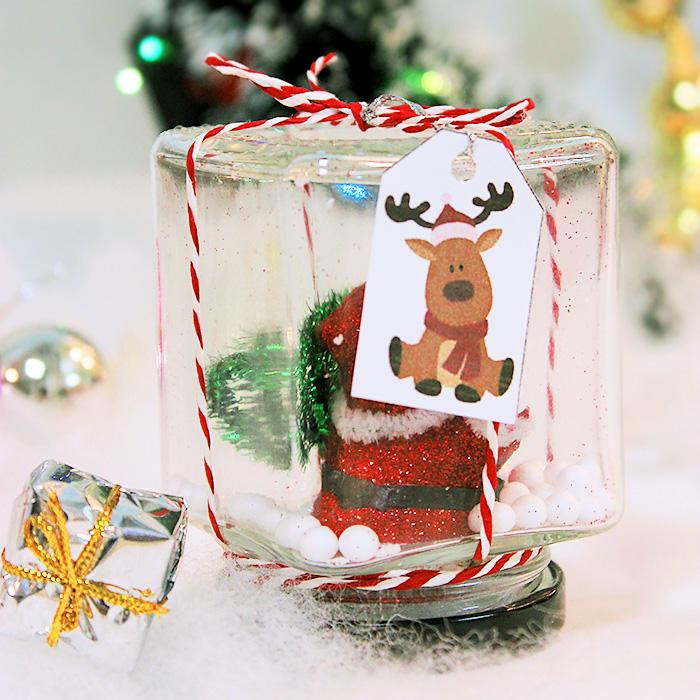 Lọ thủy tinh giáng sinh handmade