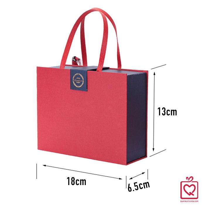 Hộp đựng quà kiểu túi xách size nhỏ 18x6.5x13cm