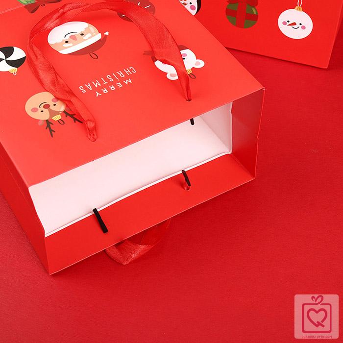 Túi đựng quà Giáng Sinh ông già noel chữ nhật
