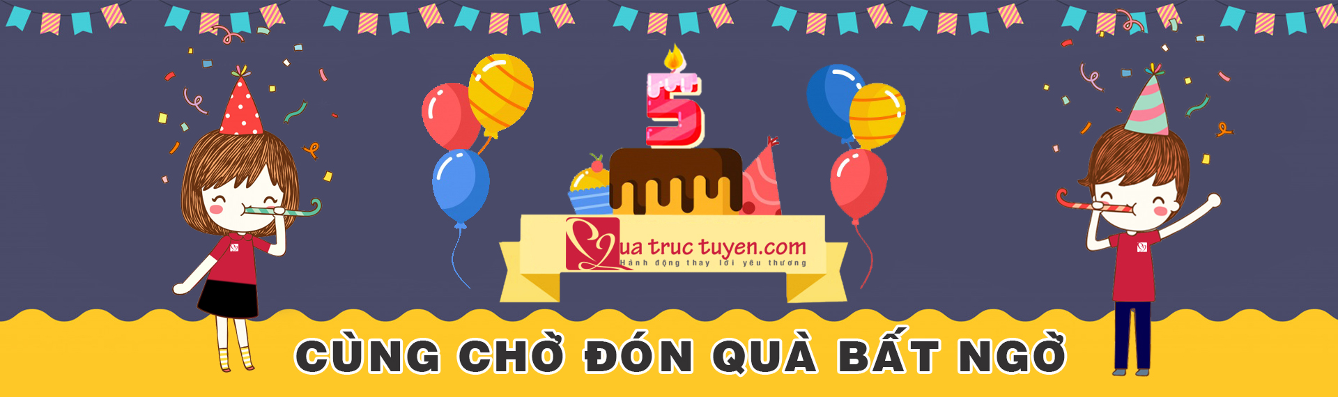 Mừng sinh nhật Quà trực tuyến