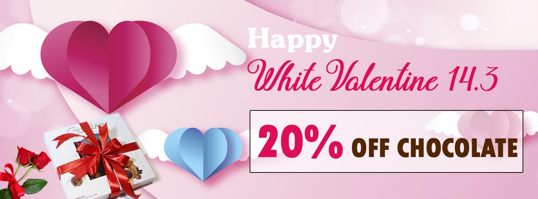 Sale Off 20% Socola Valentine