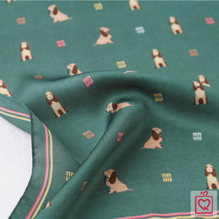 Khăn lụa vuông Hàn Quốc 70cm mẫu mớ
