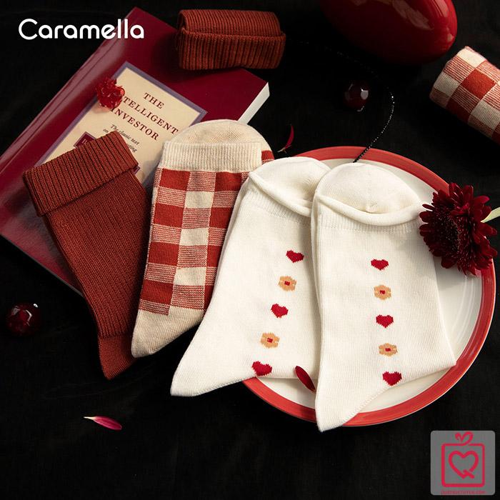 Tất nữ cổ cao Christmas Girl - Túi 3 đôi Caramella