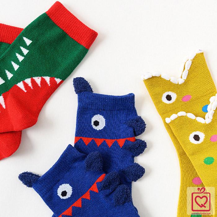 Tất trẻ em Baby Shark - Túi 3 đôi Caramella(3-5 tuổi)