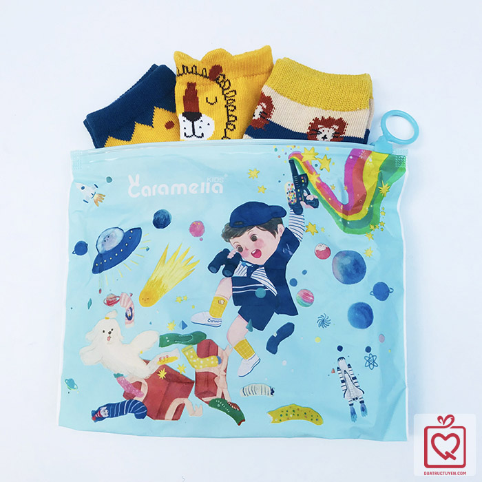 Tất trẻ em Baby Lion - Túi 3 đôi Caramella(3-5 tuổi)