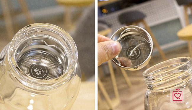 bình thủy tinh đựng nước chịu nhiệt kèm túi đựng