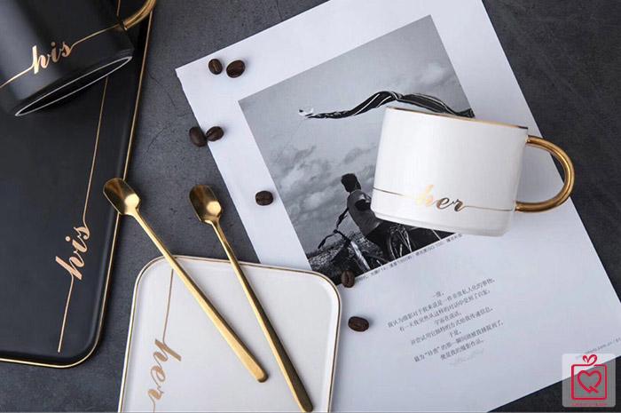 Bộ cốc đĩa sứ phong cách Châu Âu-His/Her