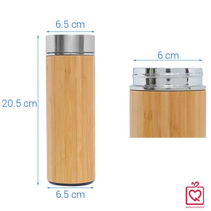Bình giữ nhiệt vỏ tre 450ml