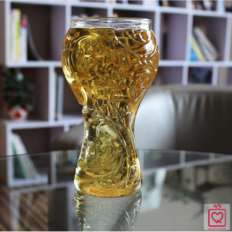 ly bia thủy tinh hình cúp world cup 2018