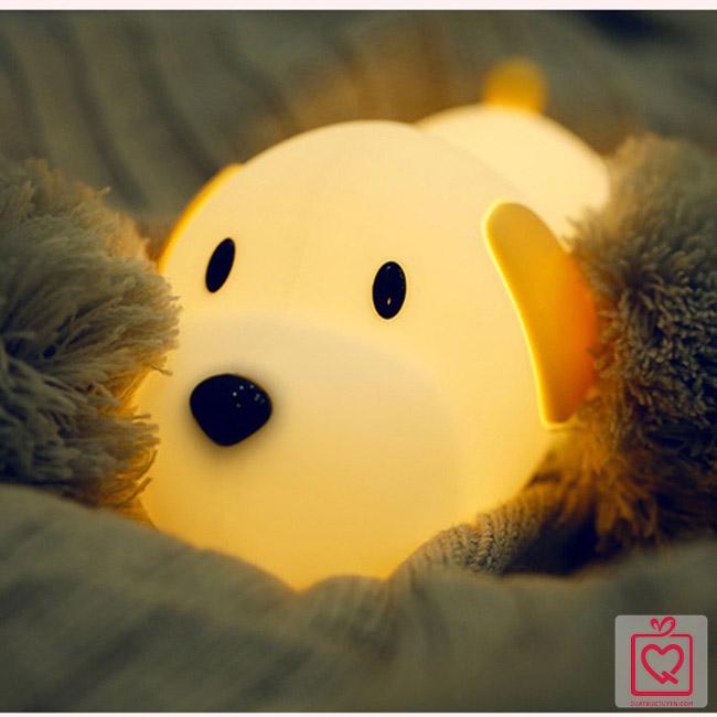 Đèn ngủ không dây cún con