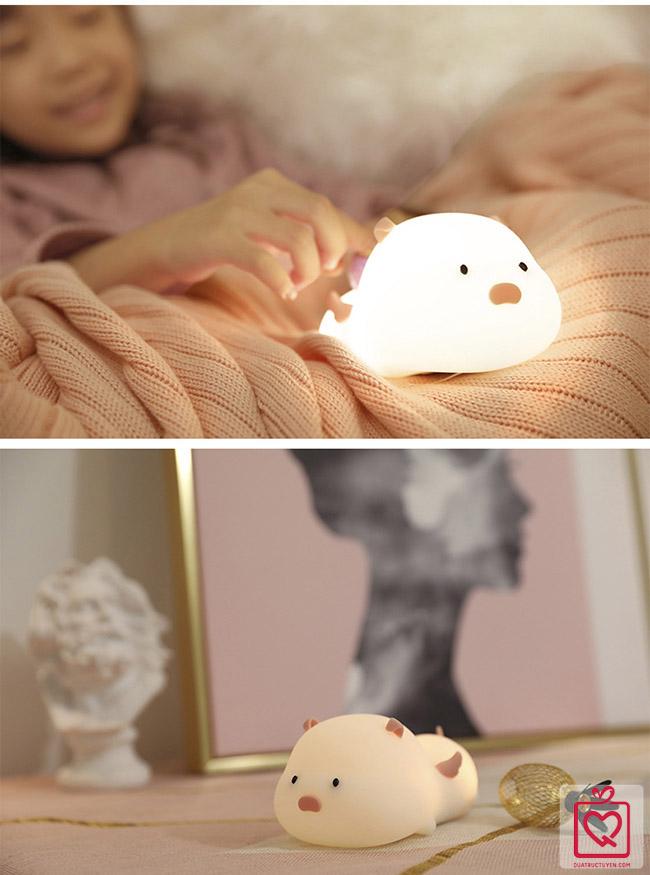 đèn ngủ heo con thiên sứ
