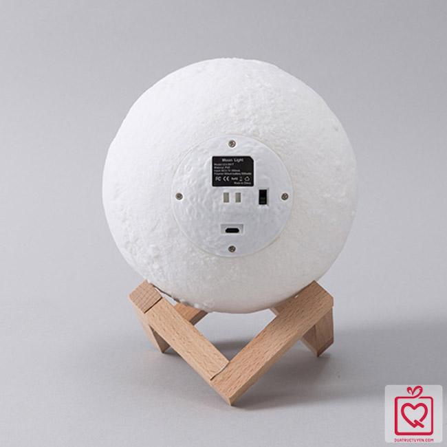 Đèn ngủ không dây mặt trăng 3D sạc USB