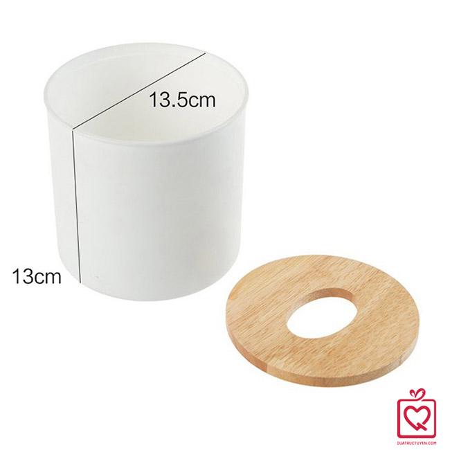Hộp đựng giấy tròn kiểu hiện đại