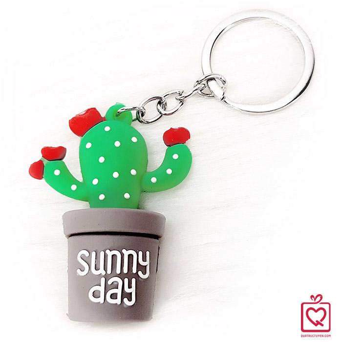 Móc khóa xương rồng Sunny Day