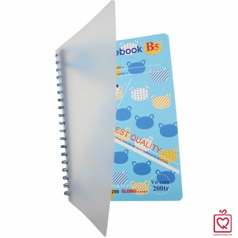 Sổ Caro A4 Math Notebook - 200 trang Klong