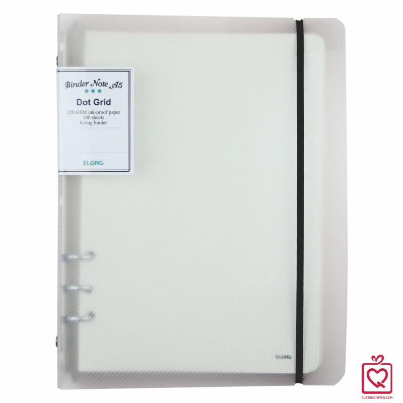 Sổ còng Dot Grid bìa nhựa A5 100 tờ KLong